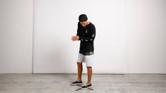 Lido Block Mod Boardshorts In Black White, Wide View