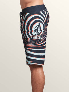 Lido Block Mod Boardshorts In Midnight Blue, Alternate View