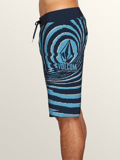 Lido Block Mod Boardshorts In Melindigo, Alternate View