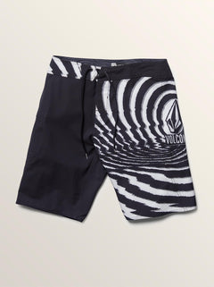 Lido Block Mod Boardshorts In New Black, Second Alternate View