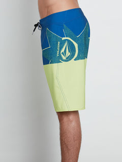 Lido Block Mod Boardshorts In Shadow Lime, Alternate View