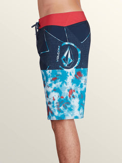 Lido Block Mod Boardshorts In True Blue, Alternate View