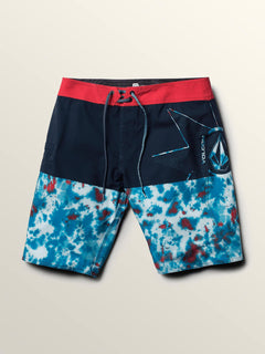 Lido Block Mod Boardshorts In True Blue, Second Alternate View