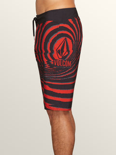 Lido Block Mod Boardshorts In Why Rock Red, Alternate View