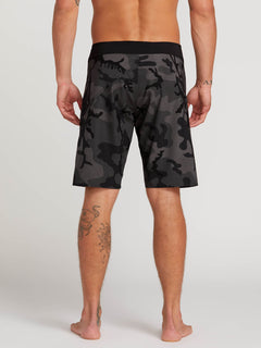 Stone Mod Boardshorts In Blackout, Back View