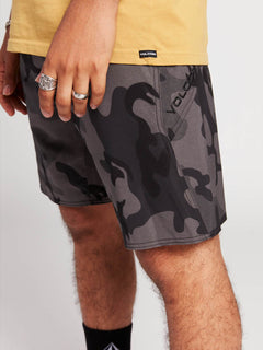 Stone Mod Boardshorts In Blackout, Fourth Alternate View
