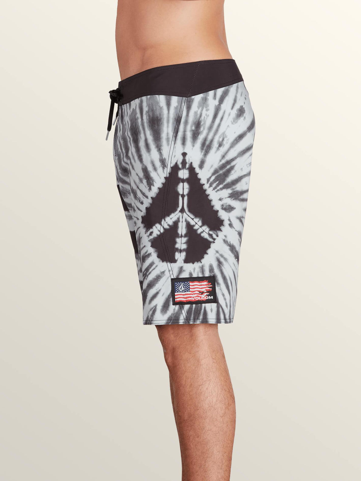 Peace Stone Mod Boardshorts In Black, Alternate View