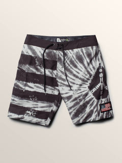Peace Stone Mod Boardshorts In Grey, Second Alternate View