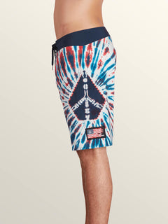 Peace Stone Mod Boardshorts In True Blue, Alternate View