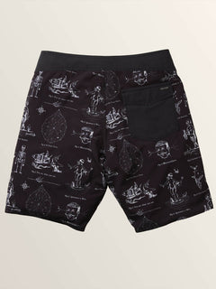 Aaron Glasson Pangeaseed Boardshorts In Black, Second Alternate View