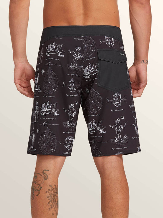 Aaron Glasson Pangeaseed Boardshorts In Black, Back View