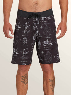 Aaron Glasson Pangeaseed Boardshorts In Black, Front View