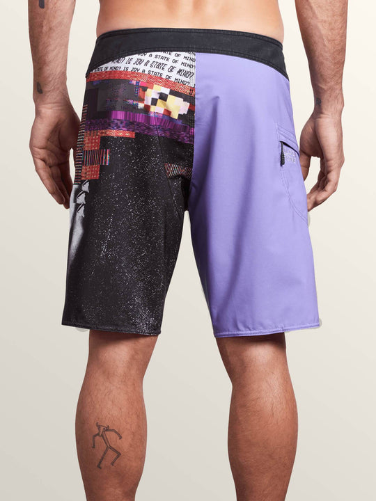 Noa Noise Mod Boardshorts In Purple Haze, Back View