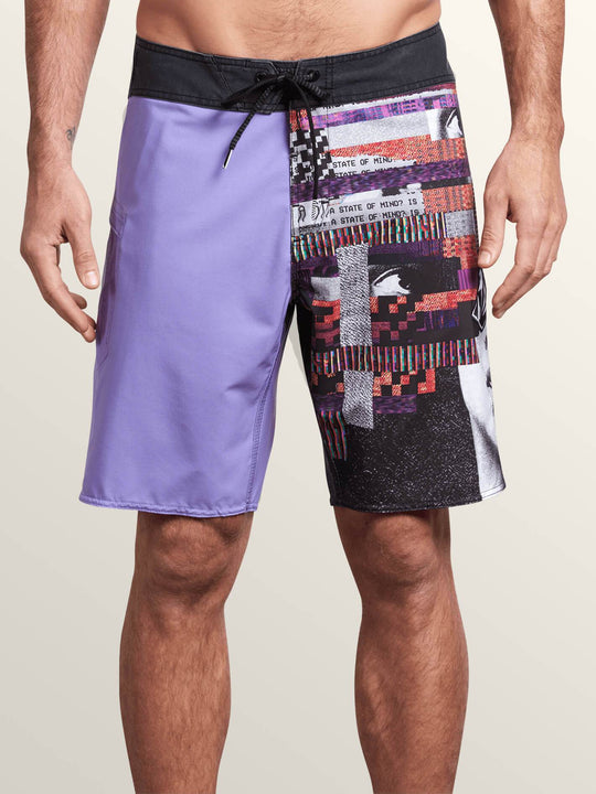 Noa Noise Mod Boardshorts In Purple Haze, Front View