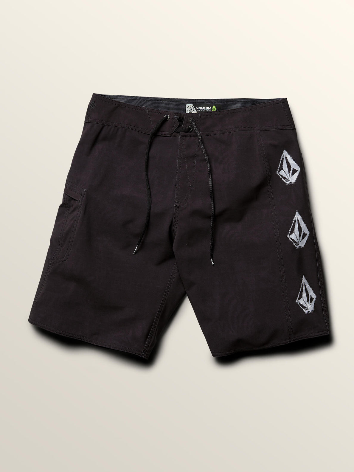 Deadly Stones Mod Boardshorts In Black, Third Alternate View