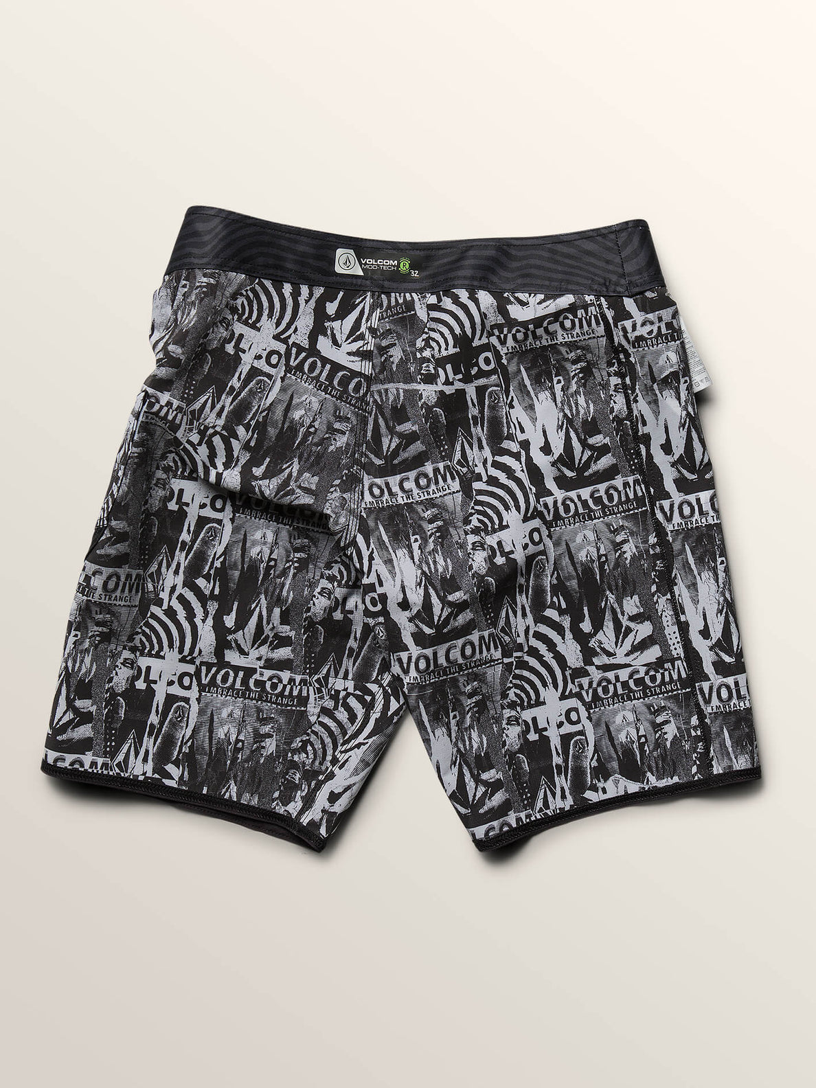 Deadly Stones Mod Boardshorts In Black, Fifth Alternate View