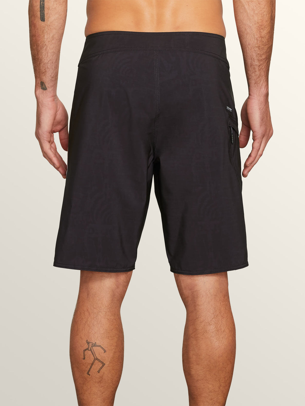 Deadly Stones Mod Boardshorts In Black, Back View