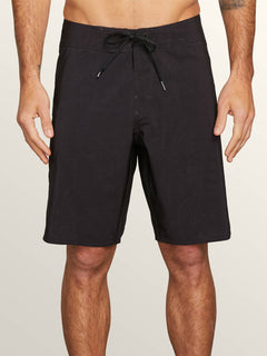 Deadly Stones Mod Boardshorts In Black, Front View