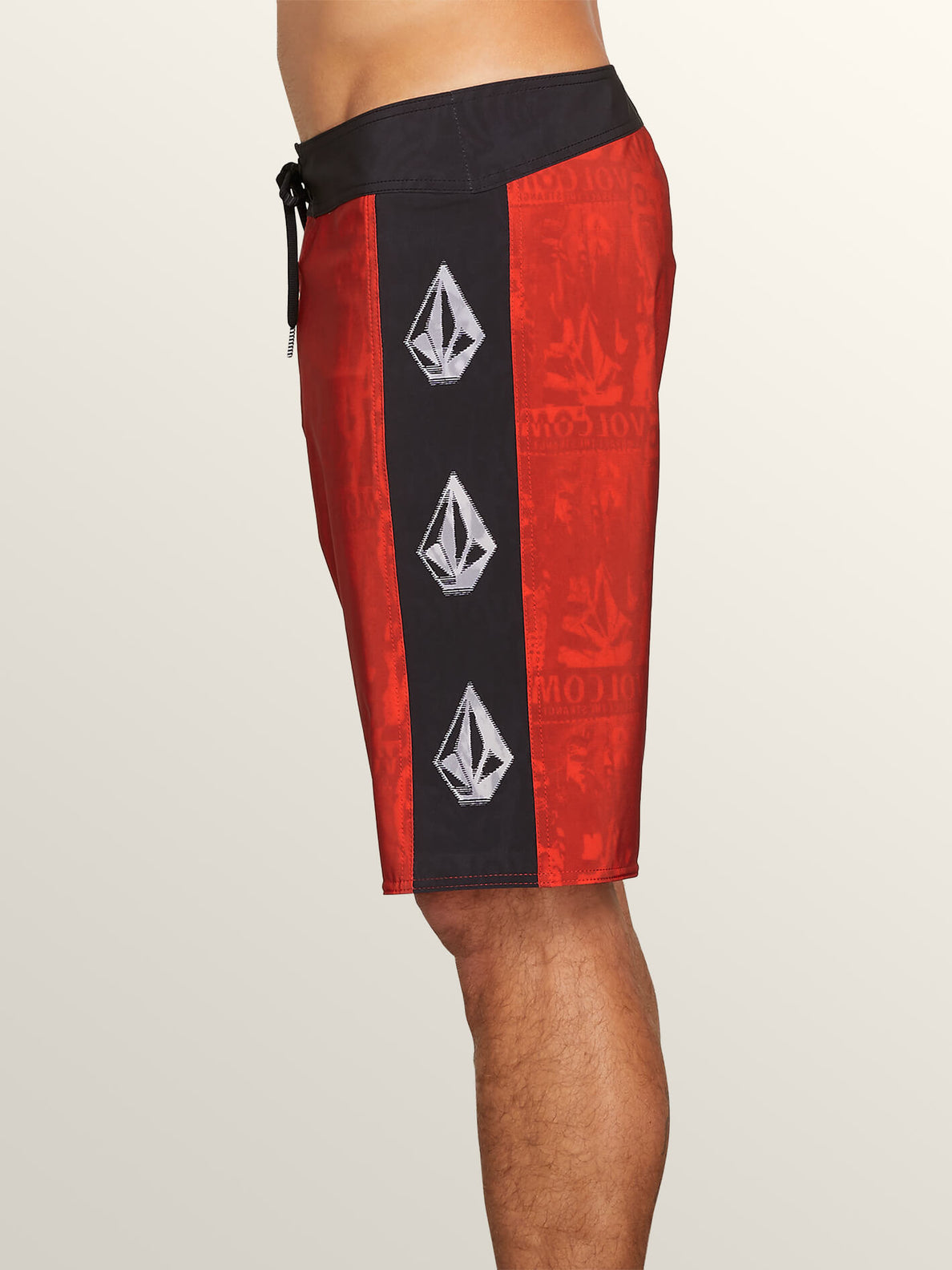 Deadly Stones Mod Boardshorts In Why Rock Red, Alternate View