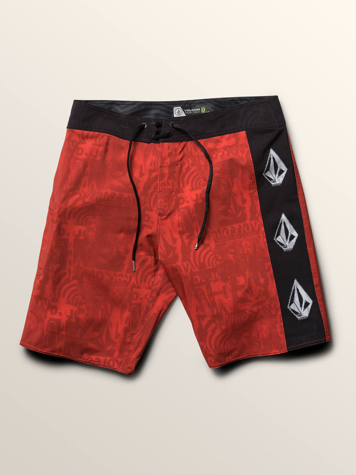 Deadly Stones Mod Boardshorts In Why Rock Red, Third Alternate View