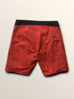 Deadly Stones Mod Boardshorts In Why Rock Red, Fourth Alternate View