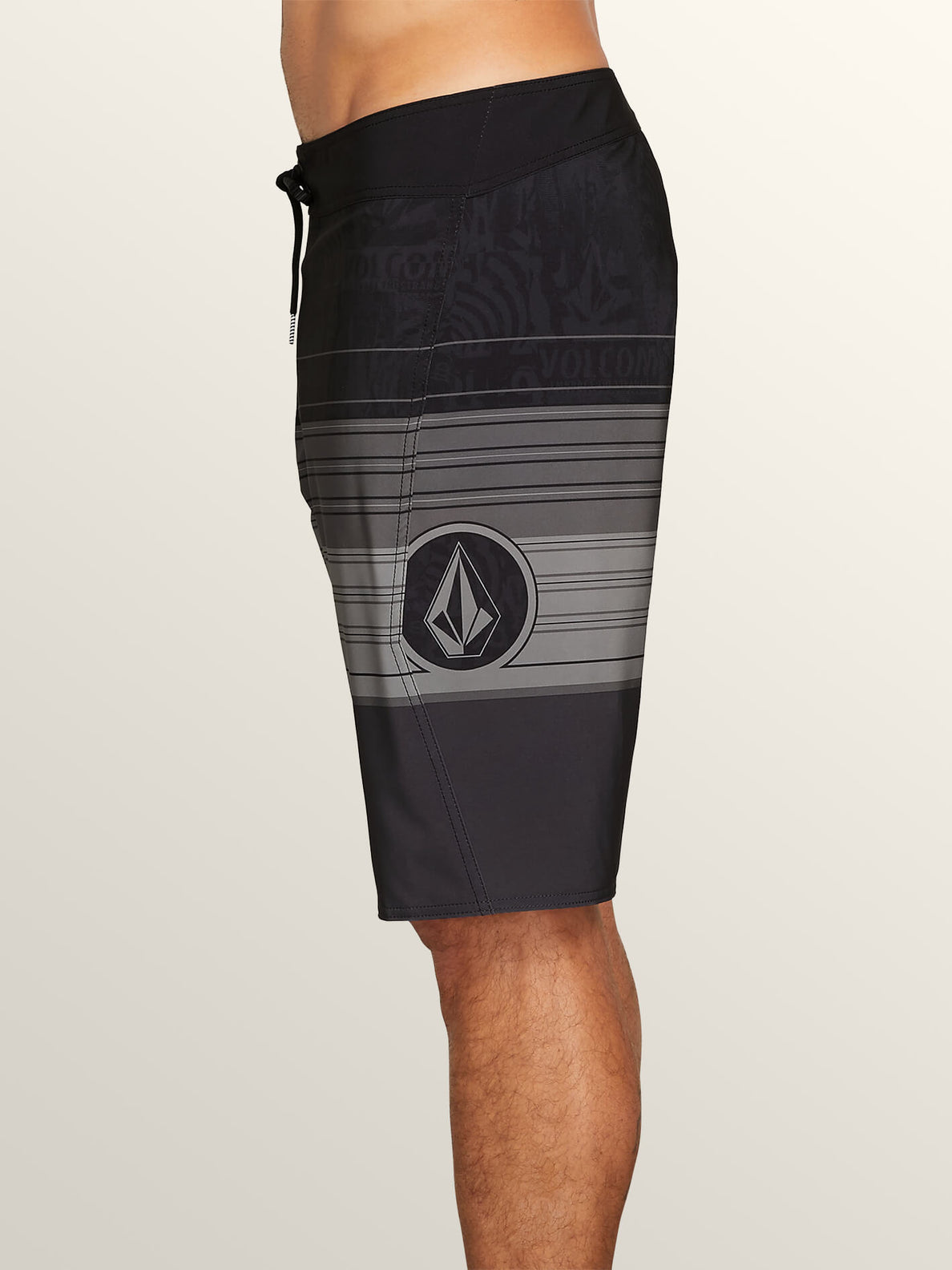 Lido Liney Mod Boardshorts In Black, Alternate View