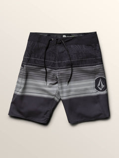 Lido Liney Mod Boardshorts In Black, Third Alternate View