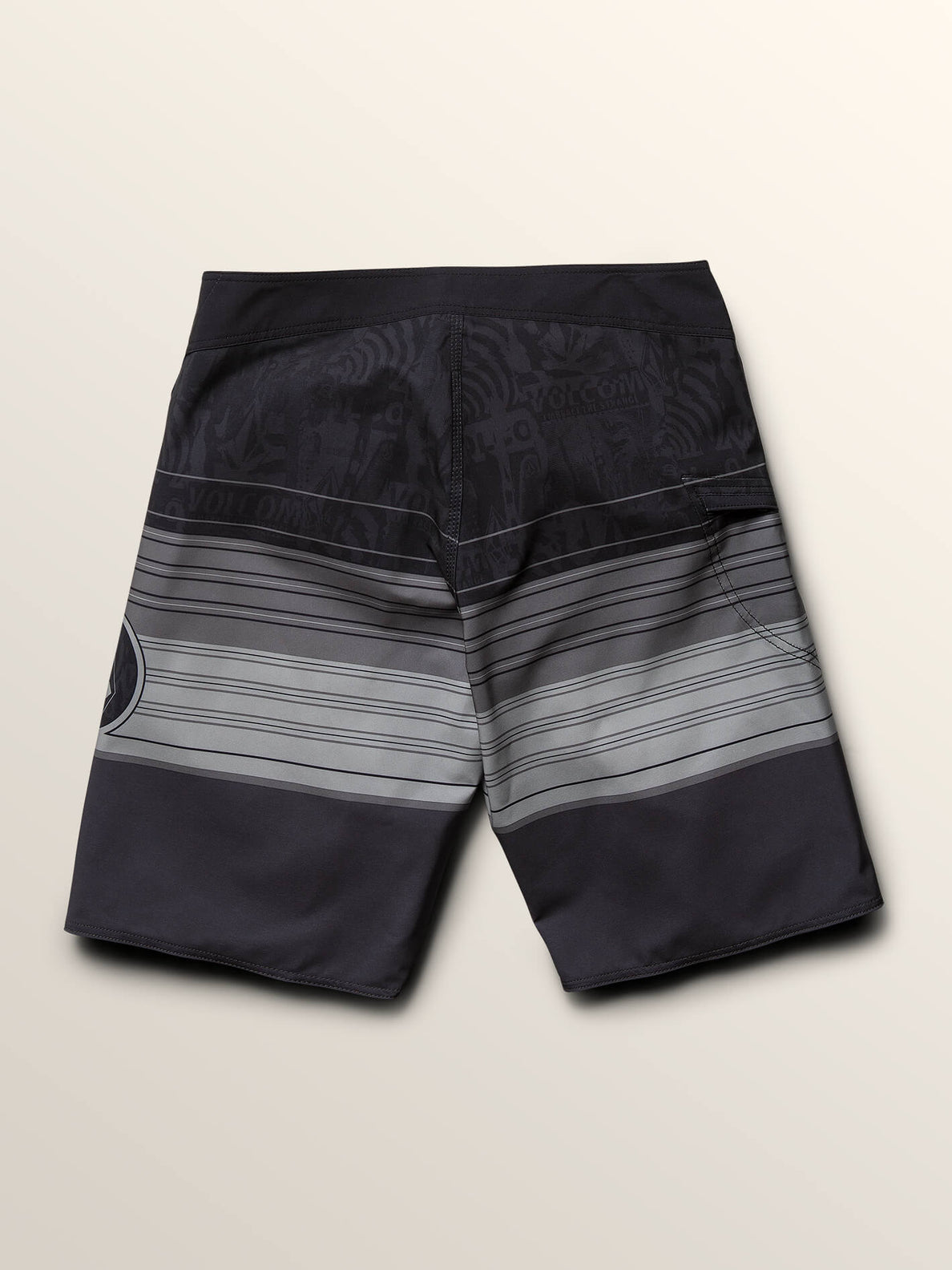 Lido Liney Mod Boardshorts In Black, Fourth Alternate View