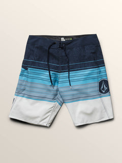 Lido Liney Mod Boardshorts In Melindigo, Third Alternate View