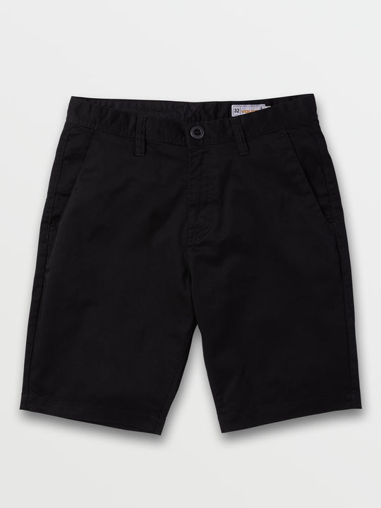 Frickin Modern Stretch Shorts In Black, Front View