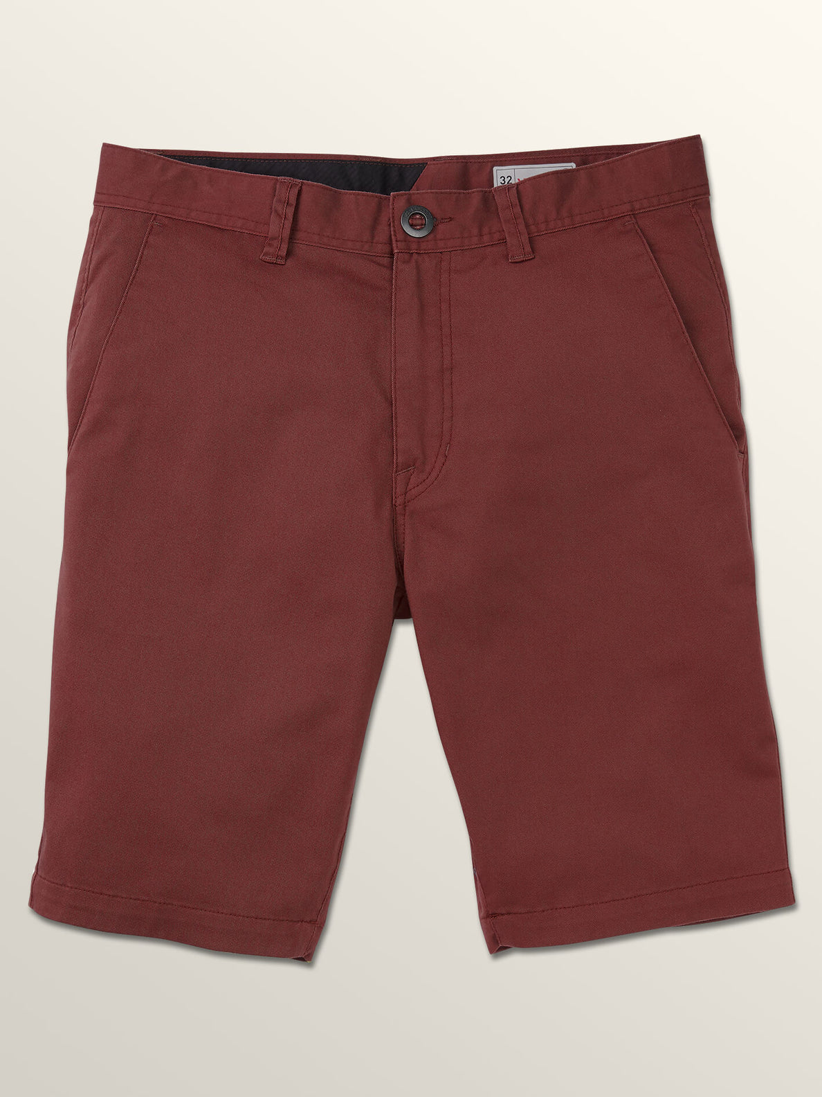 Frickin Modern Stretch Shorts In Bordeaux Brown, Third Alternate View