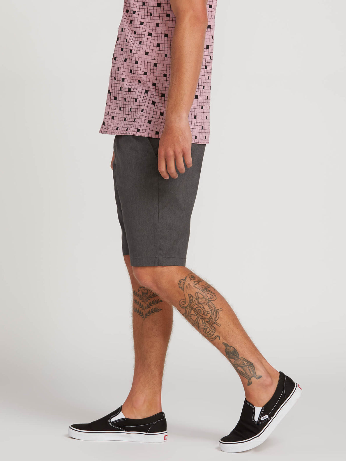 Frickin Modern Stretch Shorts - Charcoal Heather (A0911601_CHH) [3]