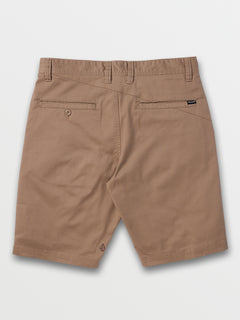 Frickin Modern Stretch Shorts In Khaki, Back View