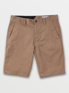 Frickin Modern Stretch Shorts In Khaki, Front View