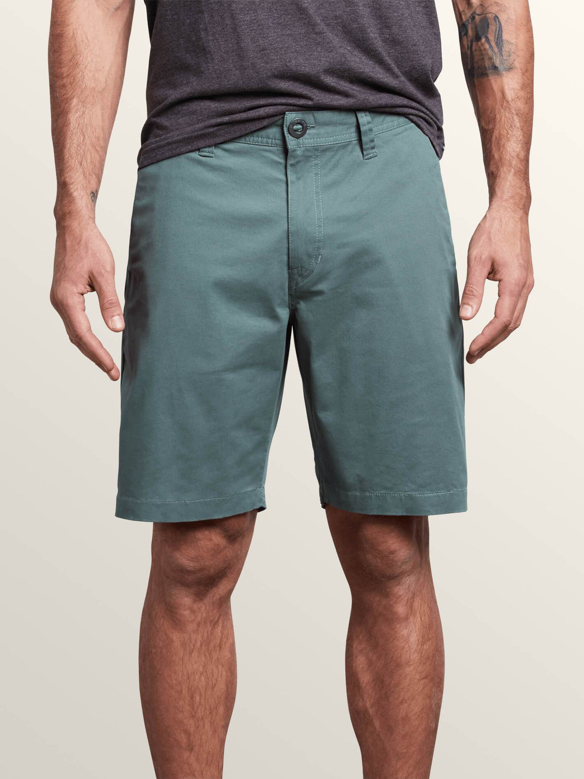 Frickin Lightweight Shorts In Pine, Front View