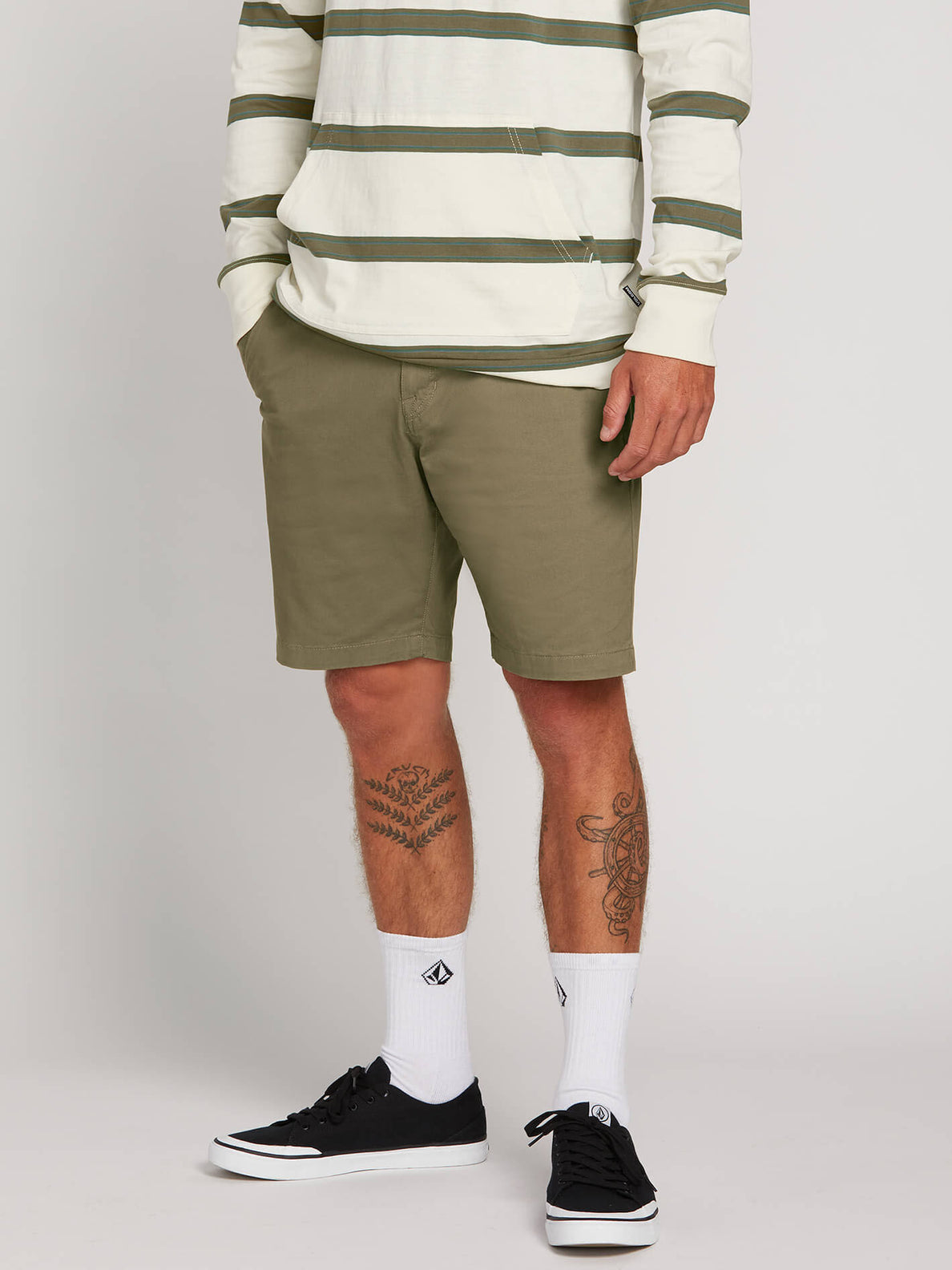 Frickin Lightweight Shorts In Squadron Green, Front View