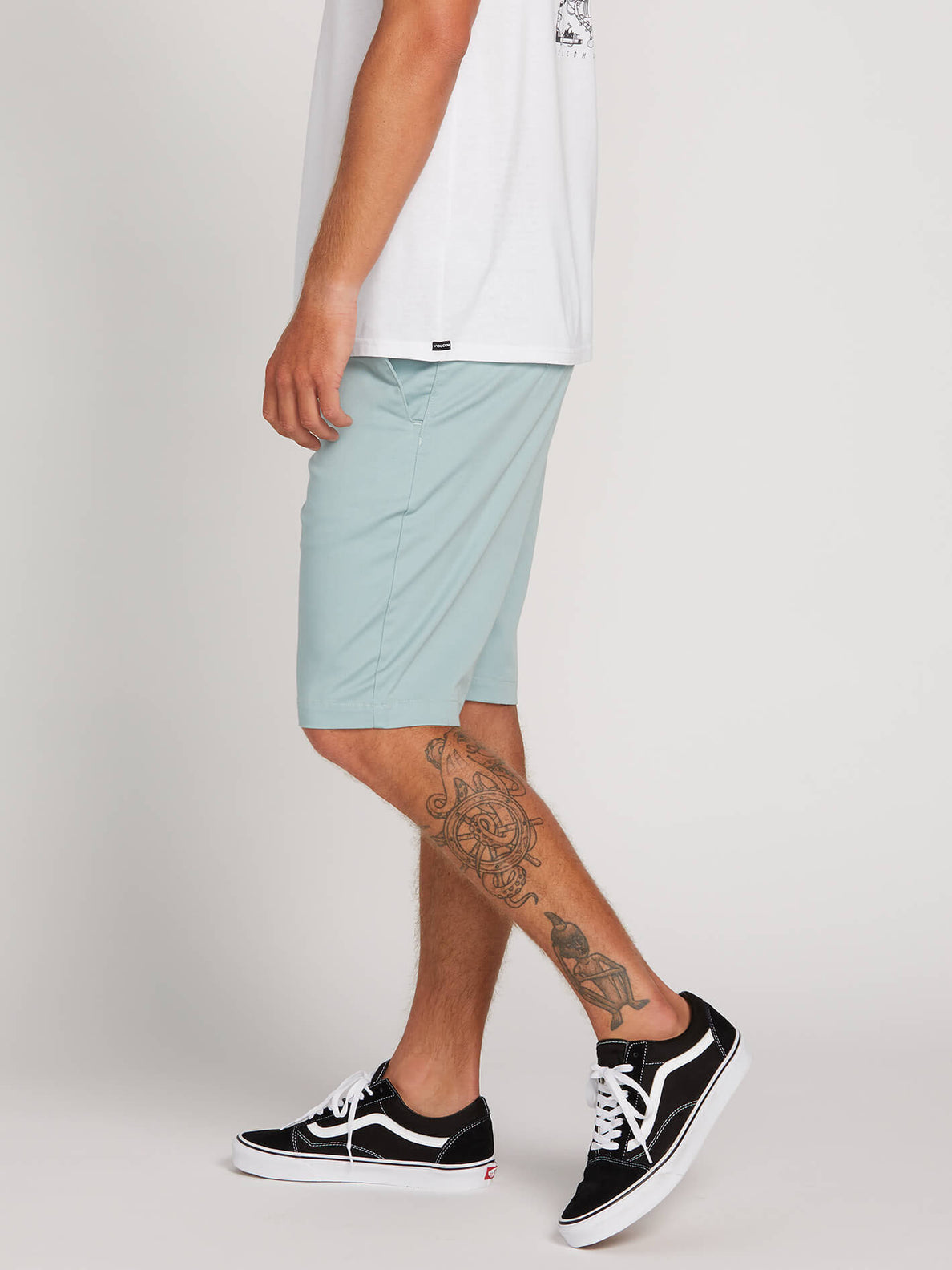 Frickin Modern Stretch Shorts In Sea Glass, Alternate View