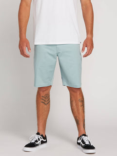 Frickin Modern Stretch Shorts In Sea Glass, Front View