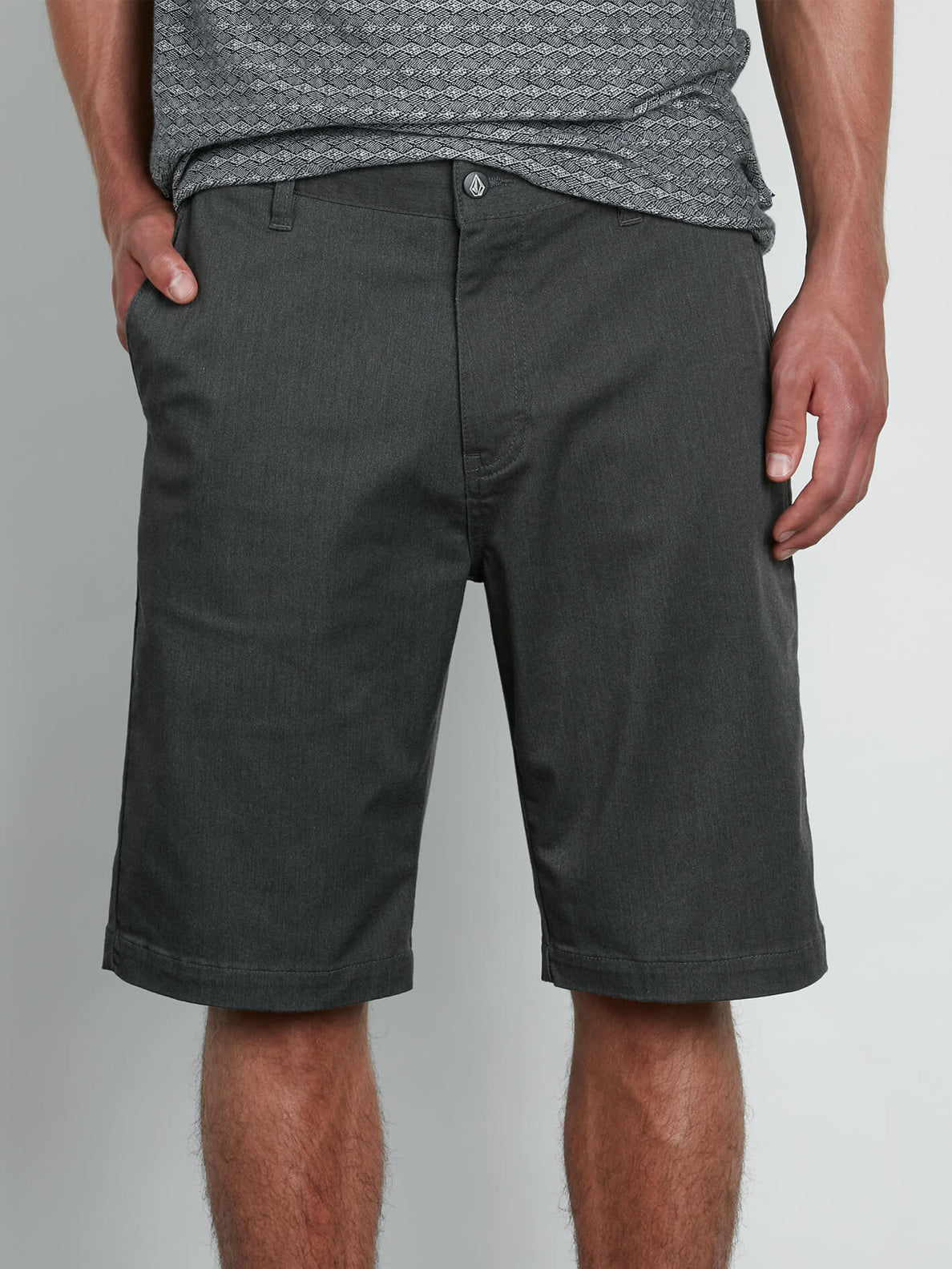 Volcom Mens Vmonty Modern Fit Short Charcoal Heather Size 40