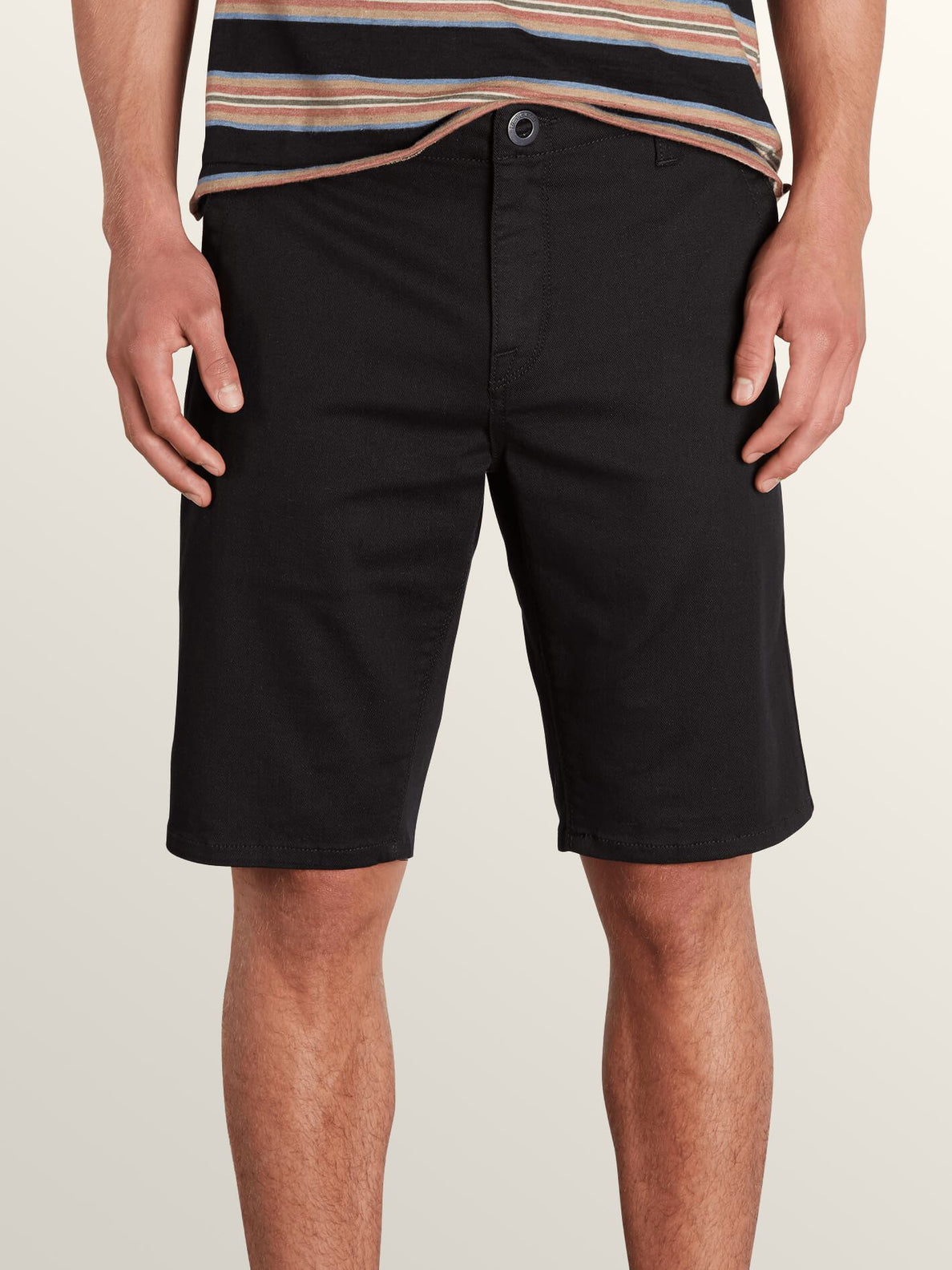 Vsm Prowler Shorts In Black, Front View