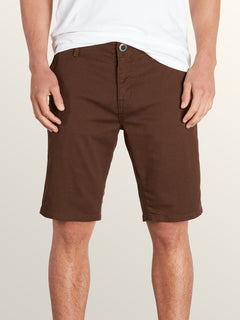 Vsm Prowler Shorts In Dark Chocolate, Front View