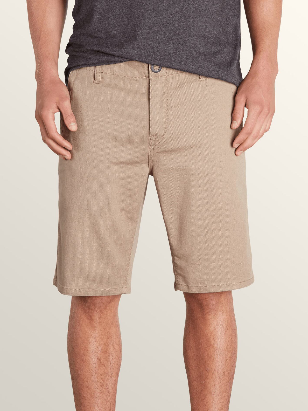 Vsm Prowler Shorts In Khaki, Front View