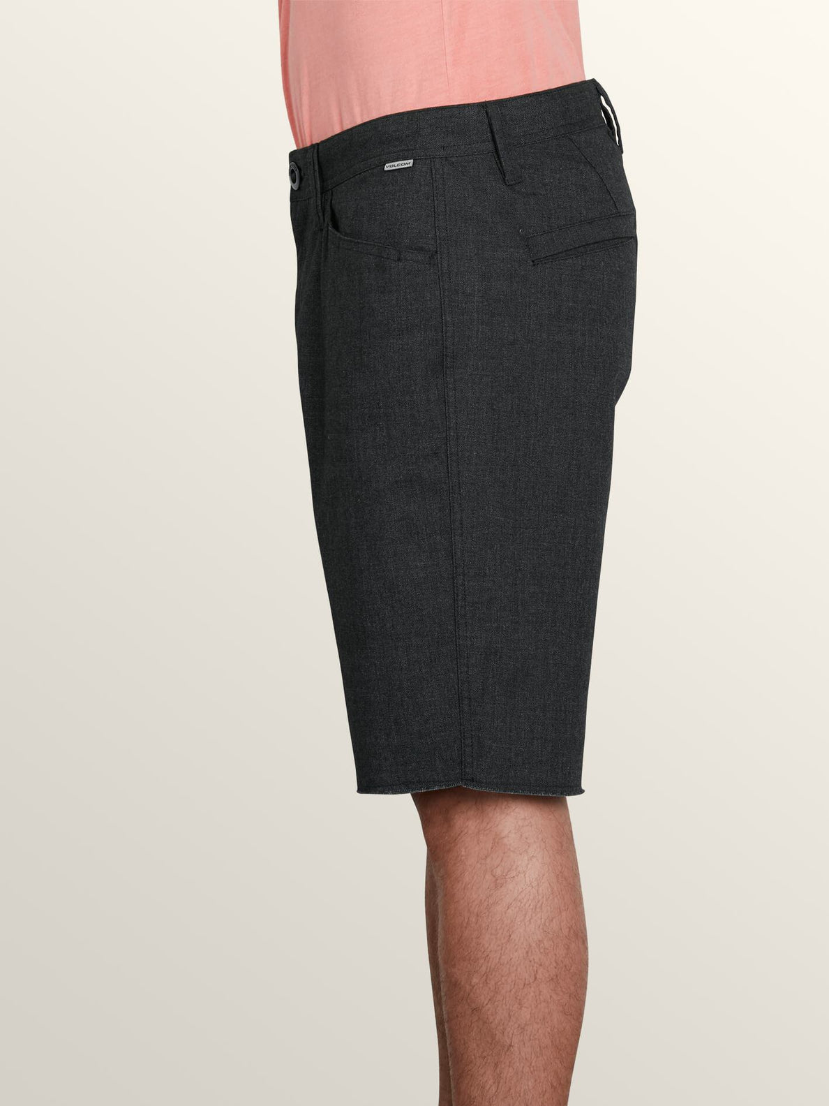 Gritter Thrifter Shorts In Gunmetal Grey, Alternate View