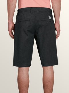 Gritter Thrifter Shorts In Gunmetal Grey, Back View