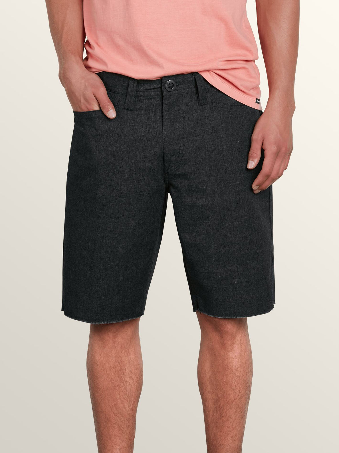 Gritter Thrifter Shorts In Gunmetal Grey, Front View
