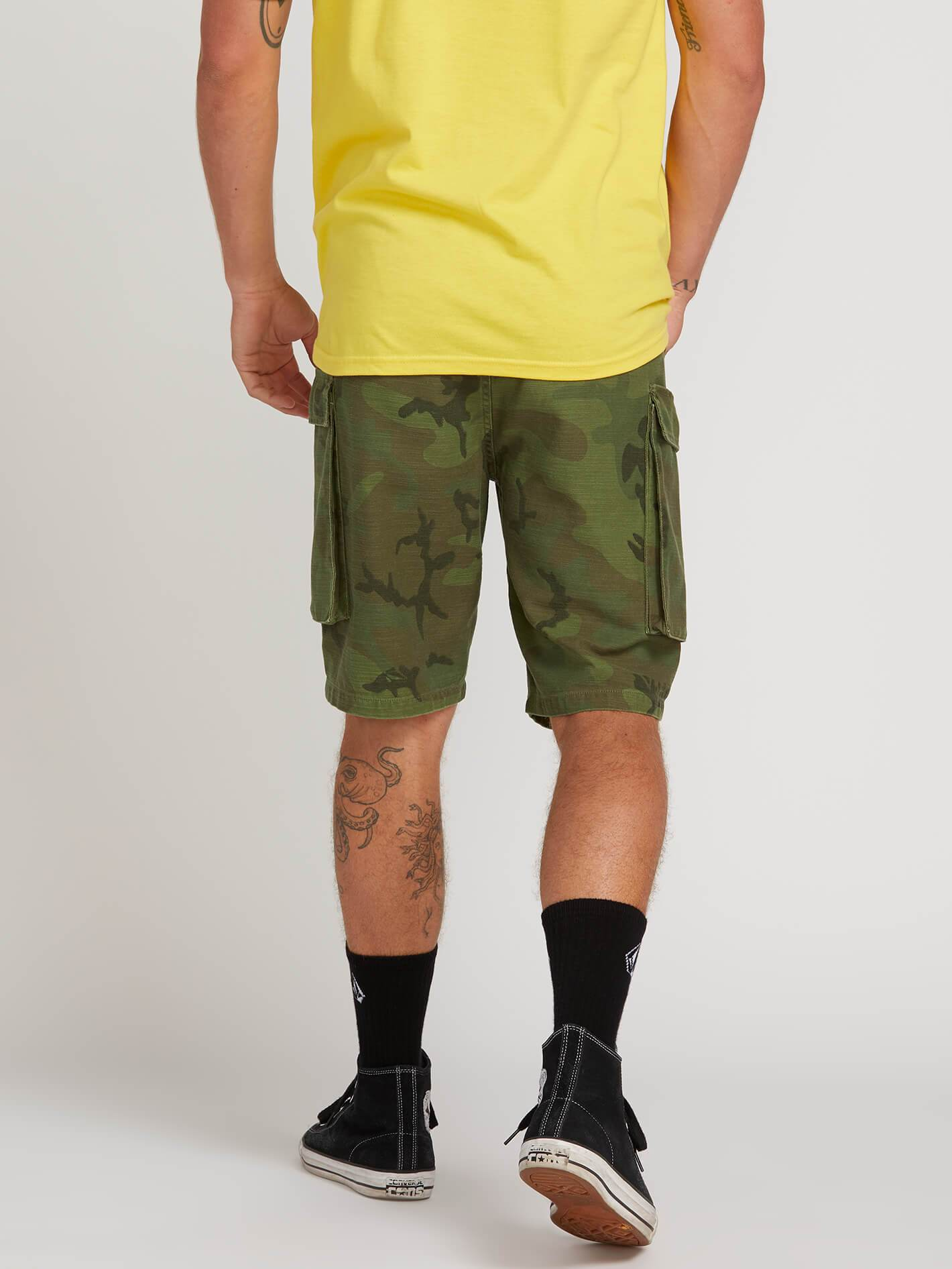 26d7a9bb3b Gritter Cargo Shorts - Camouflage in CAMOUFLAGE - Alternative View