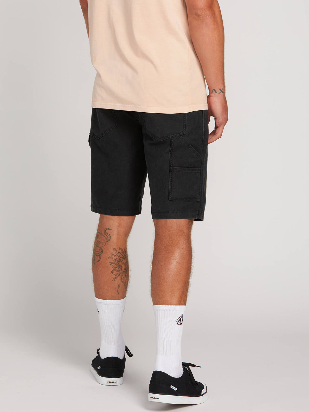 Whaler Utility Shorts In Black, Back View