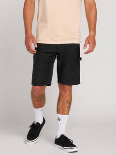 Whaler Utility Shorts In Black, Front View