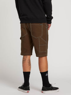 Whaler Utility Shorts In Dark Brown, Back View