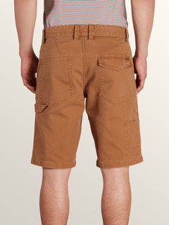 Whaler Utility Shorts In Camel, Back View